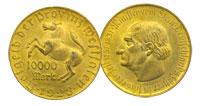 1923. Germany. 10,000 Mark. Varied.