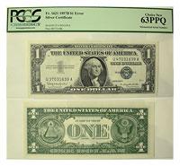 1957-B. $1. PCGS. Ch New-63. PPQ. Silver Certifica