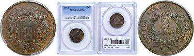 1865. PCGS. MS-64. BN.