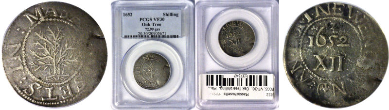 137547- 1652. Massachusetts. PCGS. VF-30.