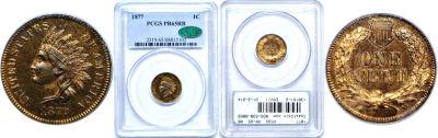 1877. PCGS. PR-65. RB.