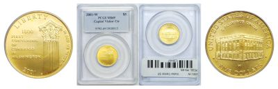 2001-W. PCGS. MS-69. Visitor Center $5.