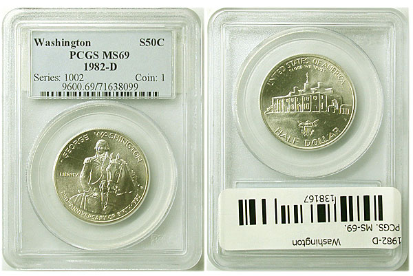 138167- 1982-D. PCGS. MS-69. Washington.