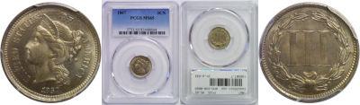 1867. PCGS. MS-65.