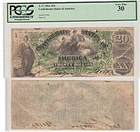1861. $20. PCGS. VF-30. T-17.