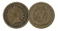 1864 Bronze. GOOD.