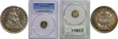 1857. PCGS. MS-64.