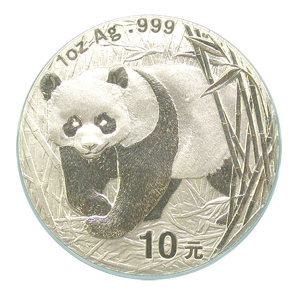 101193- 2001. GEM. Panda. One Ounce.