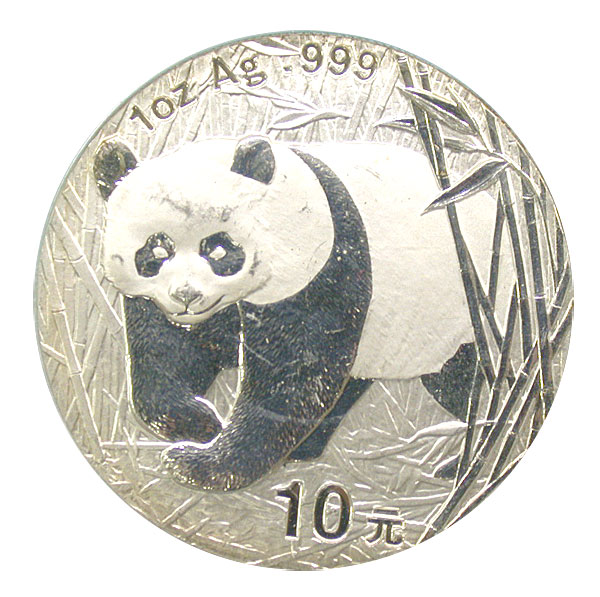 101200- 2002. GEM. Panda. One Ounce.