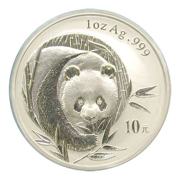 101211- 2003. GEM. Panda. One Ounce.