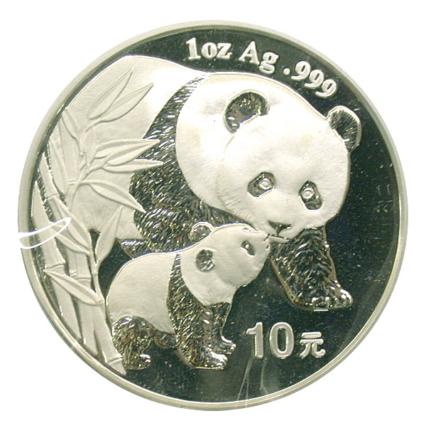 101234- 2004. GEM. Panda. One Ounce.