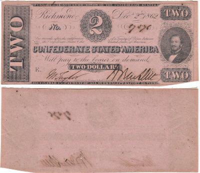 1862. $2. CU. T-54.