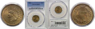 1861. PCGS. MS-65.