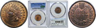 1875. PCGS. MS-65. RB.