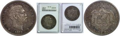 1883. Dollar. ANACS. AU-50.
