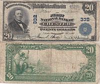 1902. $20. FINE. PA. Chester. Charter 332.