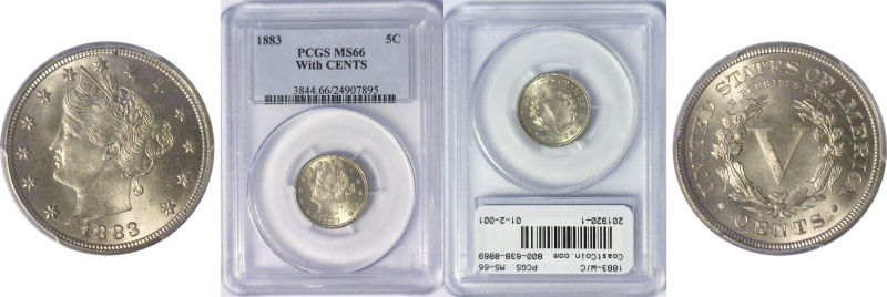 201920- 1883-W/C. PCGS. MS-66.