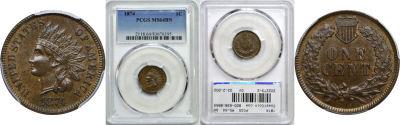 1874. PCGS. MS-64. BN.