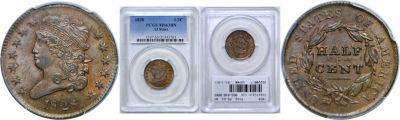 1828. PCGS. MS-63. BN.
