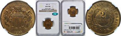 1865. NGC. MS-65. RB.