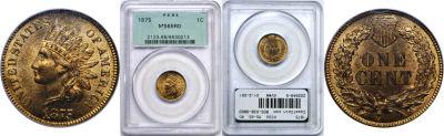 1875. PCGS. MS-65. RD.