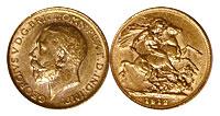 1911-1931. England. Sovereign. AU.