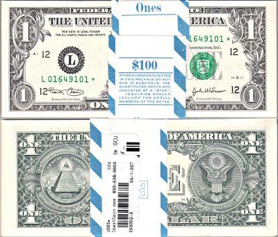 2003*. $1. F-1929-L*. CCU. Federal Reserve Note.