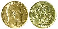 1901-1910. England. Sovereign. AU.