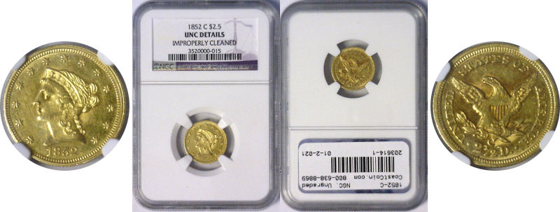 203614- 1852-C. NGC. Ungraded.