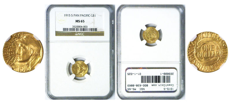 203699- 1915-S. NGC. MS-65. Panama-Pacific $1.