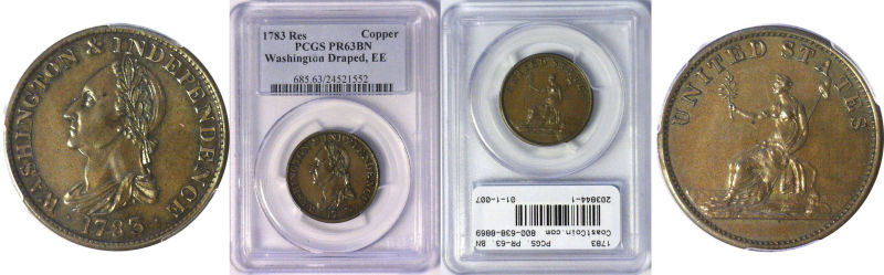 203844- 1783. Washington. PCGS. PR-63. BN.