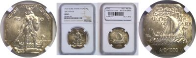 1925. NGC. MS-65. Norse-American.
