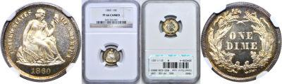 1860. NGC. PF-66. CAM.