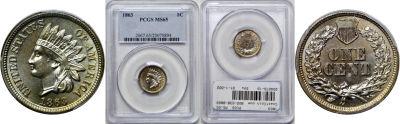1863. PCGS. MS-65.