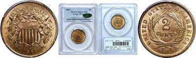 1864. PCGS. MS-64+. RD.