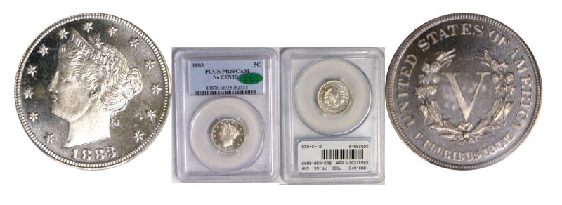 205265- 1883-N/C. PCGS. PR-66. CAM.