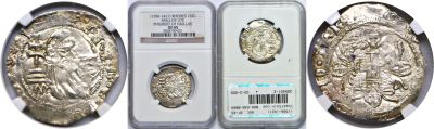 (1396-1421). Rhodes (Crusaders). NGC. XF-45. Gigli