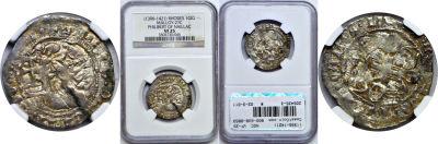 (1396-1421). Rhodes (Crusaders). NGC. VF-25. Gigli