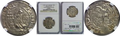 (1396-1421). Rhodes (Crusaders). NGC. VF-25. Gigli