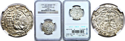 (1396-1421). Rhodes (Crusaders). NGC. F-15. Giglia