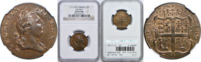 1773. Virginia. NGC. MS-64. RB.