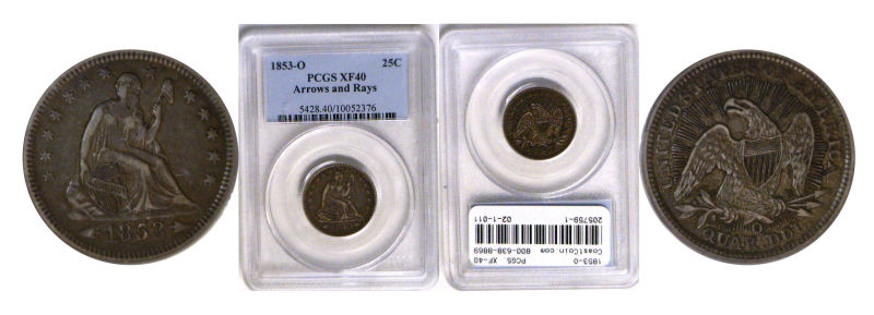 205759- 1853-O. PCGS. XF-40.