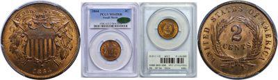 1864. PCGS. MS-65. RB.