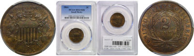1864 Small Motto. PCGS. MS-65. RB.