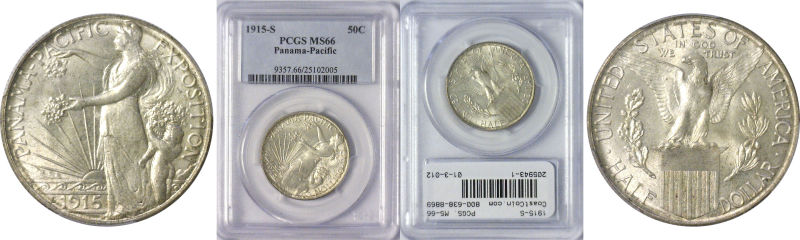 205943- 1915-S. PCGS. MS-66. Panama-Pacific.