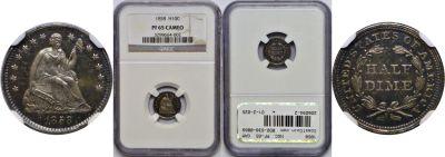 1858. NGC. PF-65. CAM.