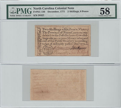 December 1771. Two Shillings & Six Pence. PMG. Ch