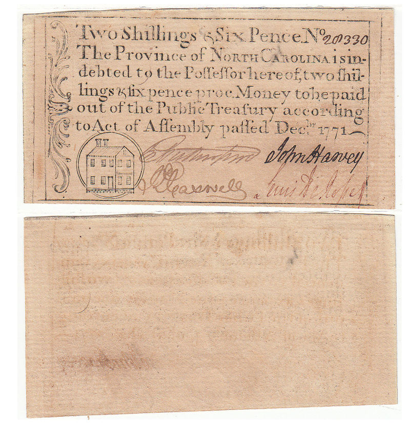 206305- December 1771. NC. Two Shillings & Six Pence. CU.