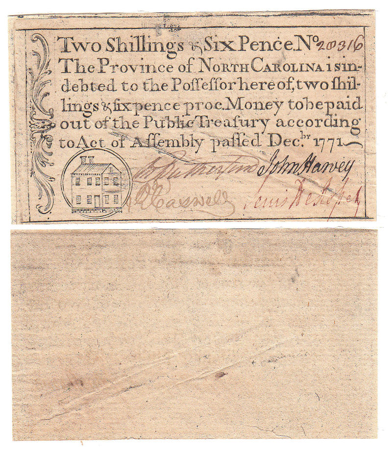 206312- December 1771. NJ. Two Shillings & Six Pence. AU.