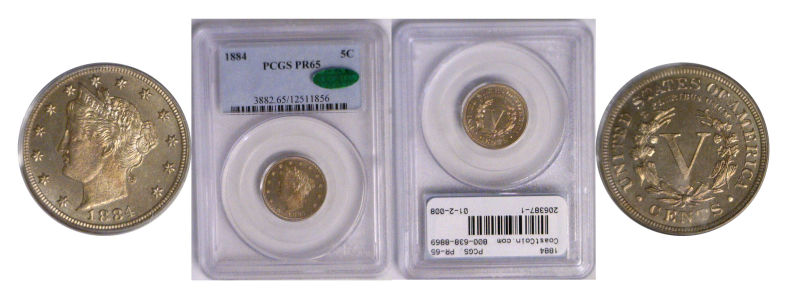 206387- 1884. PCGS. PR-65.
